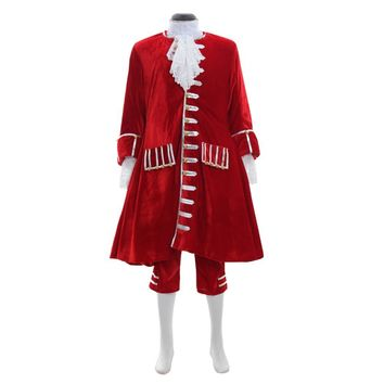 Custom Made Historical Mens Costume 17th 18th Century Red Suit Victorian Gothic Cosplay
