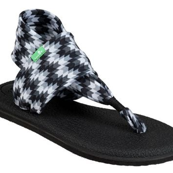 Sanuk Yoga Sling 2 Prints Black Chevron Sandals