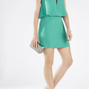 Kate Strapless Overlay Dress - Green