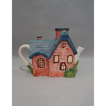"Thomas Kinkade ""Red Brick Cottage"" Tea Pot"