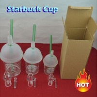 Starbuck Cup glass bong 3 types dabber oil rig Dabuccino Evol glass bubbler bongs dome nail hookah Hookah water filter pipe