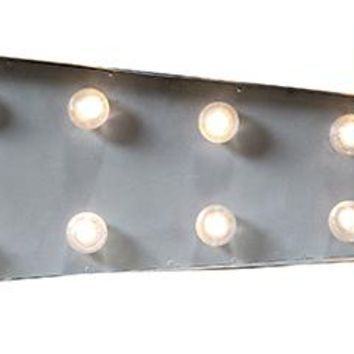 Marquee Light-Up Arrow - Metal Wall Decor - Led Lamps - Light-up Wall Decor | HomeDecorators.com