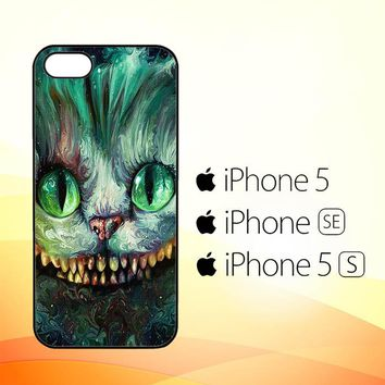 Alice In Wonderland And Cheshire Cats V1379  iPhone 5|5S|SE Case