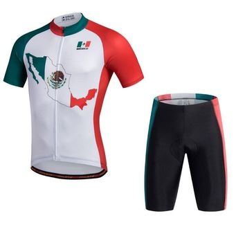 Hot MILOTO Mexico style Cycling Jersey Top Men Bike Team Cycling Clothing shortleeve Bicycle Maillot Riding Outdoor Sportswear