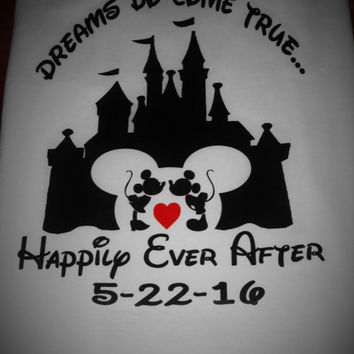 Disney Couples shirt - Dreams do come true - Disney Palace shirts - Happily ever after - Disney shirts - couples shirts