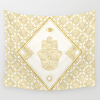 A Blessing (Gold) Wall Tapestry by Octavia Soldani | Society6