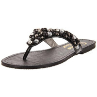 Athena Alexander Womens Simona Beaded Flip-Flop Thong Sandals