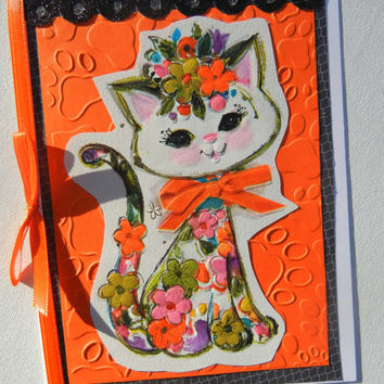 Sale Price: New Cat Kitten Card, Cat or Kitten Adoption, Pet Adoption - New Addition of a Fur Baby