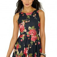 Missguided - Catina Floral Skater Dress