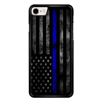 American Police Officer The Thin Blue Line iPhone 7 Case