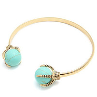 Accessories Boutique Cuff Talon in Turquoise and Gold