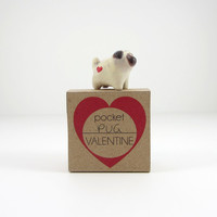 Pug pocket valentine totem by HandyMaiden on Etsy