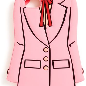 Pink Business Woman Suit Silicone iPhone Cell Phone Case by Bando - Fits iPhone 7 & 8