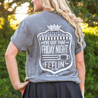 Jadelynn Brooke: Got That Friday Night Feelin' S/L V-neck Tee {Charcoal}