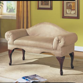 Aston Bench w/Rolled Arm, Beige Mfb