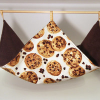 Guinea Pig Hammock, Rat Canopy, Hanging Ferret Cage Accessories - Chocolate Chip Cookies