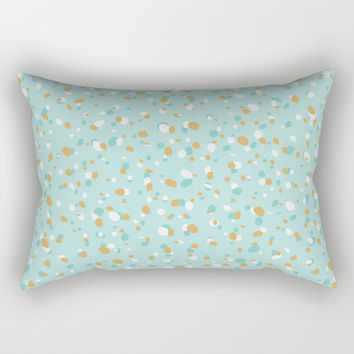 Aqua Turquoise Terrazzo Rectangular Pillow by printapix