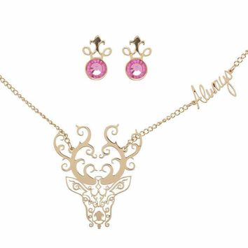 Harry Potter Always Earrings and Necklace Jewelry Set