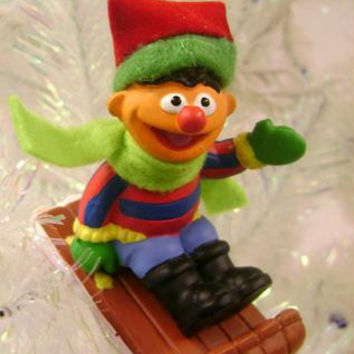 Christmas Ornament - Sesame Street Ernie And Sled