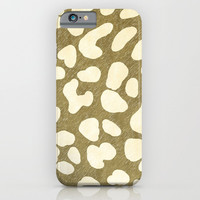 Leopard Beige Pattern iPhone & iPod Case by oursunnycdays