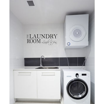The Laundry Room Quote Vinyl Wall Decal. Laundry Wall Decor. D00057