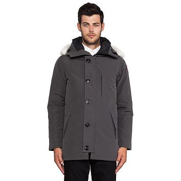 Canada Goose Chateau Parka With Coyote Fur Trim In Gray - Boaety