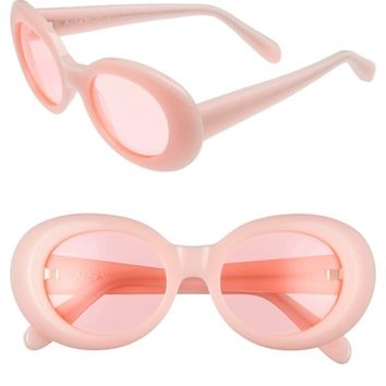 ACNE Studios Mustang 47mm Oval Sunglasses | Nordstrom