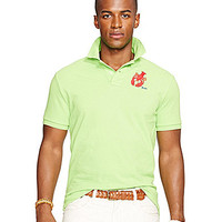 Polo Ralph Lauren Custom-Fit Embroidered Mesh Polo Shirt - Citrus Lime
