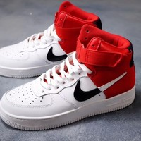 HCXX 19Nov 158 Nike Air Force 1 High 07 LV8  NBA Bulls Monk Strap Women Men Sneakers Casual Skate Shoes