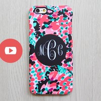 Abstract Color Print Monogram iPhone 6 Case iPhone 6 plus Case Custom iPhone 5S Case iPhone 4S Case Pink Black Galaxy S6 S5 S4 Case 069 - Edit Listing - Etsy