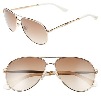 Jimmy Choo Jewlys 58mm Aviator Sunglasses | Nordstrom