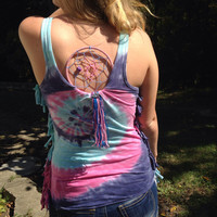 All seeing eye tie dye dreamcatcher shirt