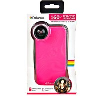 Polaroid iphone 5 fish eye lens pink