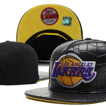 Los Angeles Lakers New Era 9FIFTY Special Edition Gator Skin Snapback hat