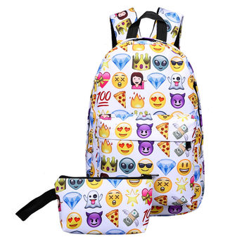 Waterproof Emoji Face Travel Bag