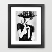 Vogue Framed Art Print by Studio 15 Collective