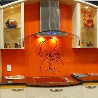 Wall Vinyl Sticker Decal Art Design Chef Cook for Cafe Kitchen Room Nice Picture Decor Hall Wall Chu483