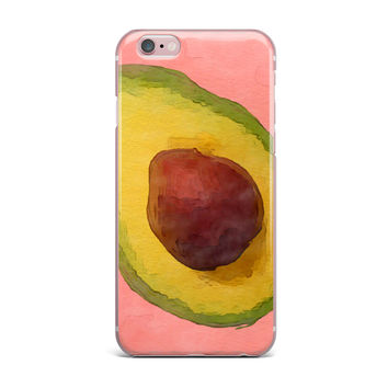 "Oriana Cordero  ""Avocado For Lola"" Green Pink iPhone Case"