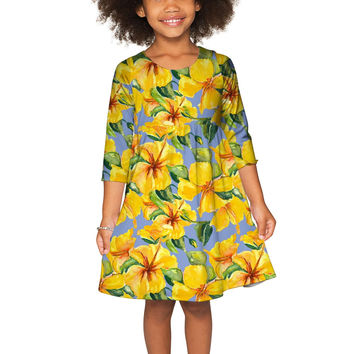 After the Rain Gloria Empire Waist Floral Pattern Dress - Girls