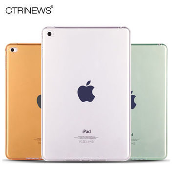 CTRINEWS Case for Apple iPad mini 4 Smooth TPU Soft Transparent Cover Skin Protector for iPad mini 4 Crystal Clear Tablet Cover