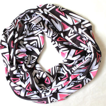 geometric scarf,infinity scarf, scarf, scarves, long scarf, loop scarf, gift