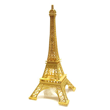 Metal Eiffel Tower Paris France Souvenir, 15-inch, Gold