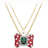 Double Chain Minnie Mouse Necklace by Disney Couture | Disney Couture | Disney Store