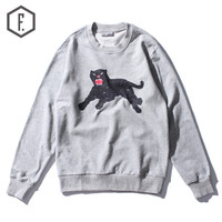 Winter Abstract Print Long Sleeve Round-neck Hoodies [8822201987]