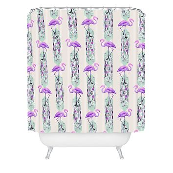 Iveta Abolina Pattern of Flamingo Shower Curtain