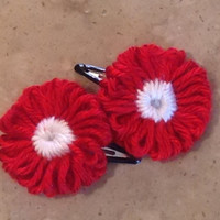 Knitted Flower Hair Clips Hair Accessories