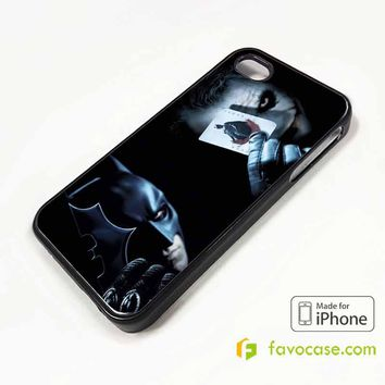 JOKER VS BATMAN iPhone 4/4S 5/5S/SE 5C 6/6S 7 8 Plus X Case Cover