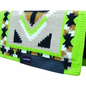 Bar H Equine Western Saddle Pad Air Foam Barrel Lime SB417KSAF