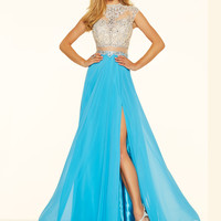 Cap Sleeves Paparazzi Prom Dress 98080