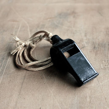 Were You Whistling at Me - Vintage Field Champion Whistle - Military - Kids - Men - Rustic - Camping - Black - Collectible